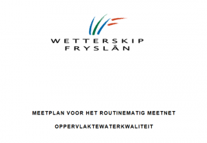 Ontwerp meetnet waterkwaliteit en ecologie wetterskip Fryslân