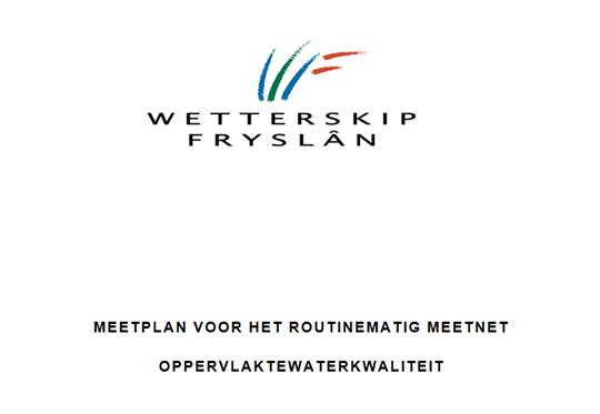 Meetplan oppervlaktewaterkwetterskip Fryslân